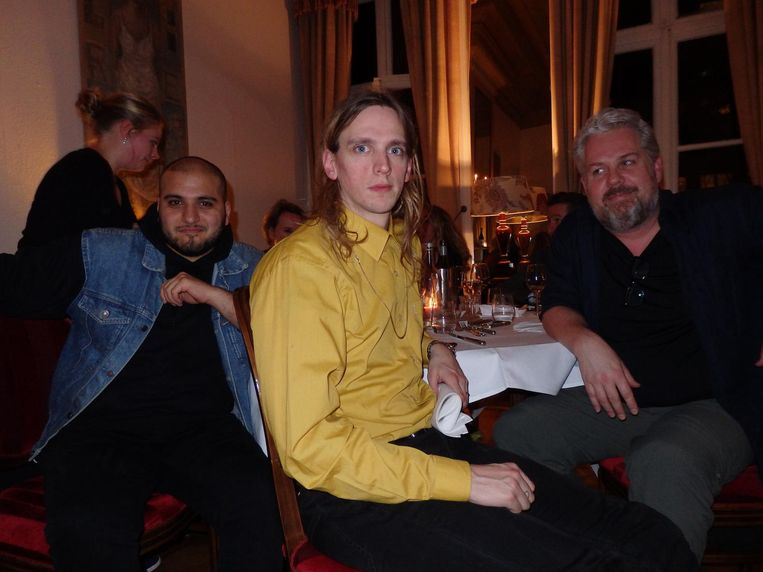 Dinerdebutanten Massih Hutak, Pepijn Lanen en Thomas Acda Beeld Schuim