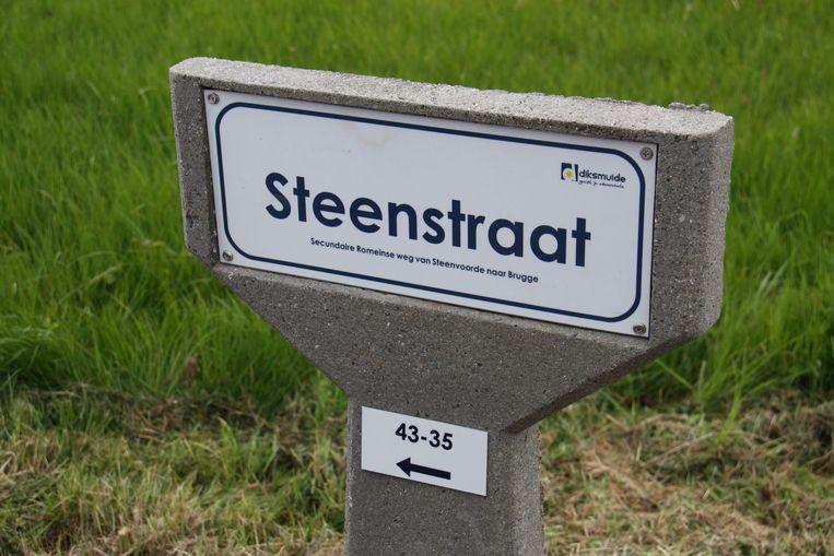In de Steenstraat zijn de huisnummers extra aangeduid