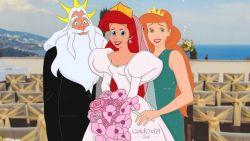 Kunstenares transformeert Disney-prinsessen in moderne bruiden (en hun ouders zijn er ook bij!)