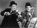 Stan Laurel en Oliver Hardy.