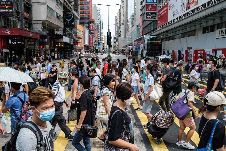 Volgens de Britten is Hongkong nu gekoloniseerd door het communistische regime van Xi Jinping. Beeld AFP
