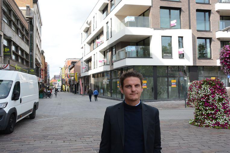Op de hoek van de Grote Markt en de Vrasenestraat werd recent nog een nieuwbouwproject neergezet.