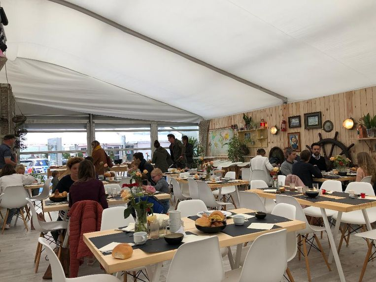 Heel wat gezinnen kwamen eerst ontbijten op het Filmfestival Oostende.