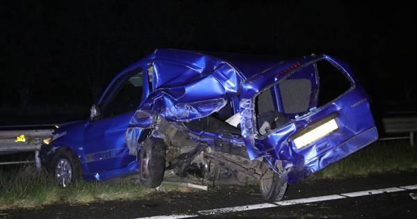 A30 tussen Barneveld en Lunteren helemaal dicht na ernstig ongeluk.