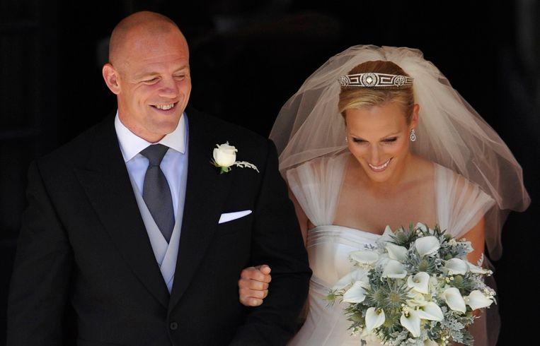 Zara Tindall en haar man Mike.
