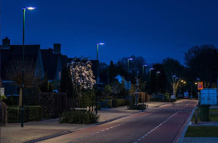 Straatverlichting met led-lampen.
