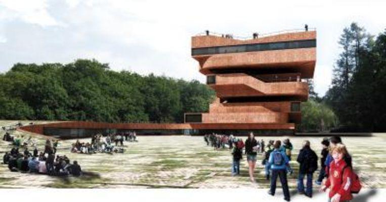 Artistieke impressie van het Nationaal Historisch Museum in Arnhem. De gemeente kan het museum over vier jaar openen. (ANP) Beeld null