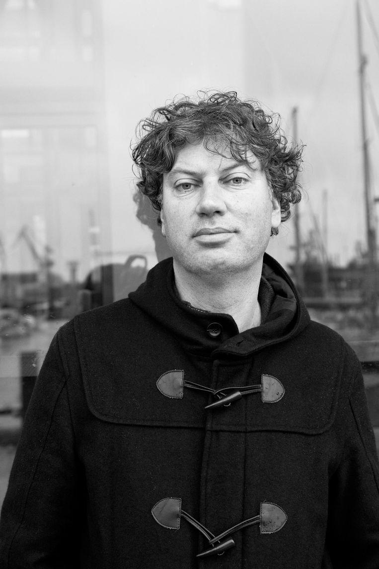 Bas Kok, auteur van het boek Oerknal aan het IJ over Amsterdam-Noord Beeld Roï Shiratski