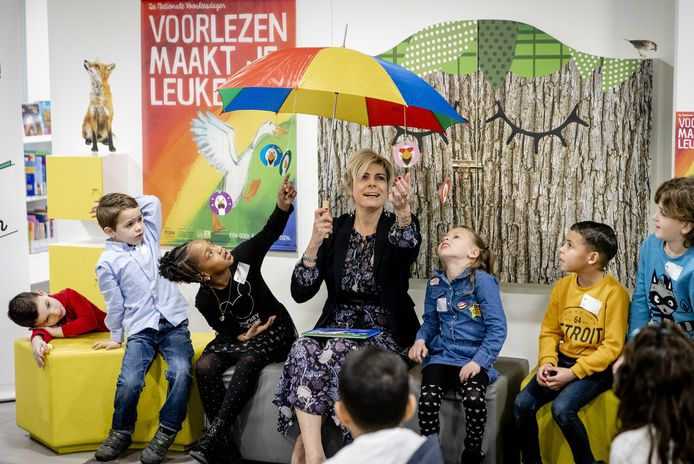 Ook Prinses Laurentien kwam al eens op bezoek in de Zoetermeerse bibliotheek.