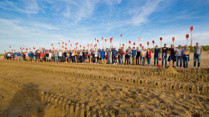 Kontichs bedrijf verovert plaats in Guinness Book of World Records met rij van 1.924 zandkastelen