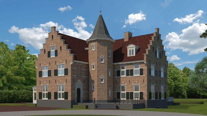 Voor de zomer gaat de eerste schop de grond in voor een nieuw 'kasteel' in Ruurlo. Zo komt het eruit te zien.