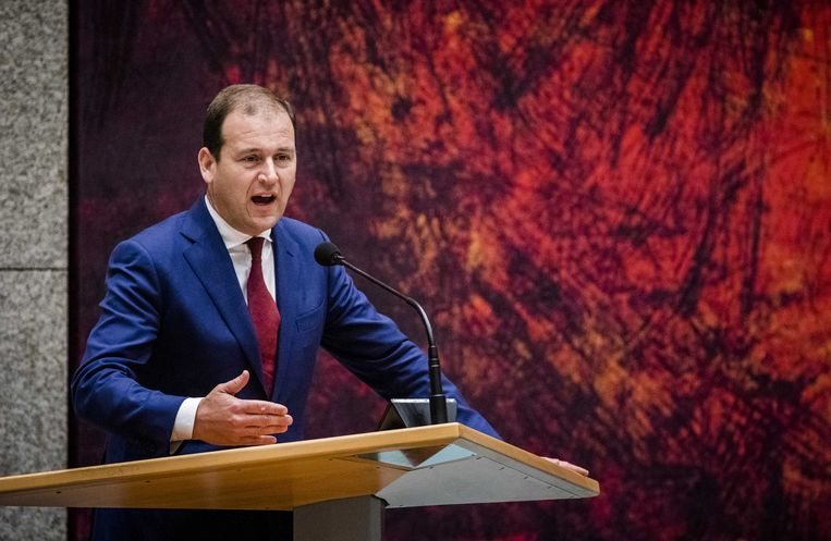 2019-06-05 21:05:06 DEN HAAG - Lodewijk Asscher (PVDA) tijdens een debat over het uitstellen van de klimaatakkoord-doorrekening presentatie door minister-president Rutte. ANP BART MAAT Beeld ANP