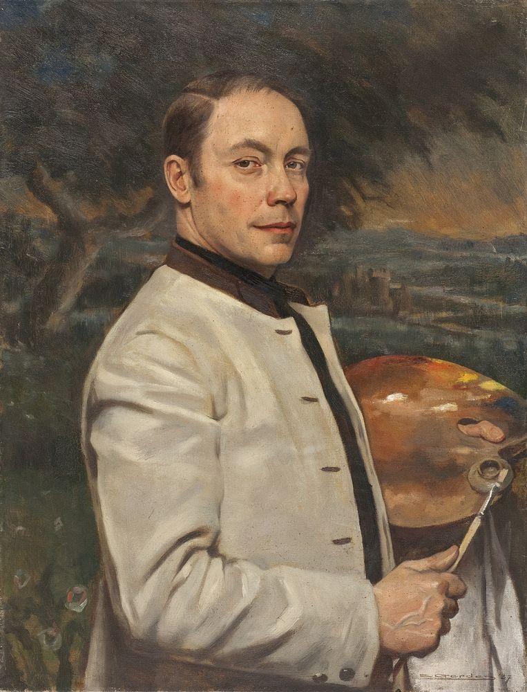 Eduard Gerdes, zelfportret 1937 Beeld Collectie Rijksdienst voor het Cultureel Erfgoed