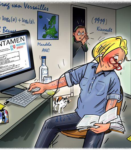 Wie spiekt bij het online examen is er gloeiend bij: zelfs oogbewegingen van studenten worden geanalyseerd