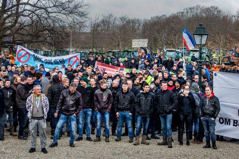 Het boerenprotest van Farmers Defence Force op de Koekamp in Den Haag.  Beeld Raymond Rutting / de Volkskrant