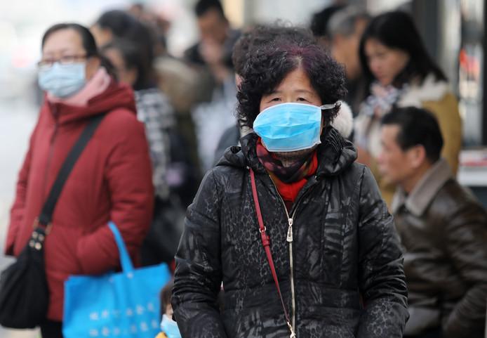 In China nemen inwoners voorzorgsmaatregelen.