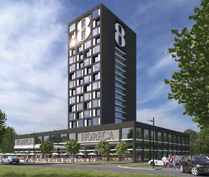 Een impressie van het Gr8 Real Estate Hotel zoals dat bij Heerde zou moeten verrijzen.