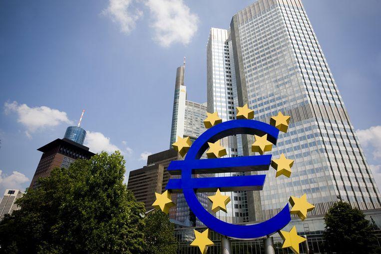 Gebouw van de Europeese Centrale Bank in Frankfurt (ANP) Beeld