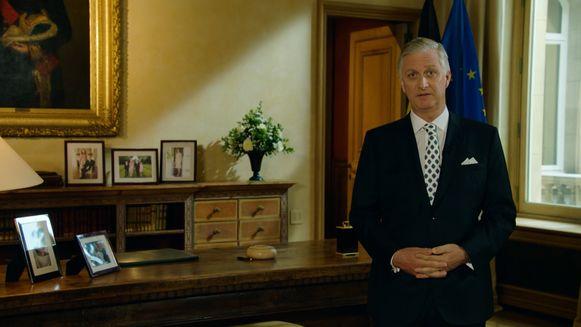 Koning Filip tijdens zijn toespraak naar aanleiding van 21 juli