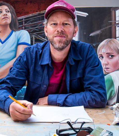 Wereldberoemd, maar in z'n eigen stad Utrecht is street artist Leon (40) onbekend. Nog wel!