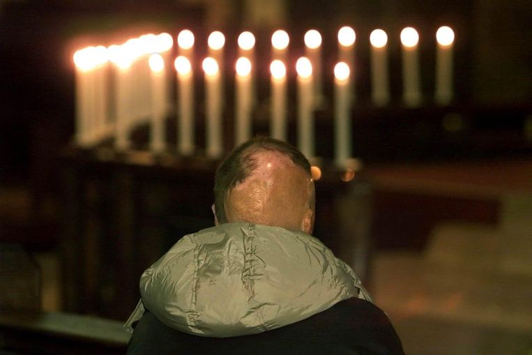 Herdenkingsbijeenkomst ter nagedachtenis aan de slachtoffers van de vliegramp in Faro. Beeld ANP