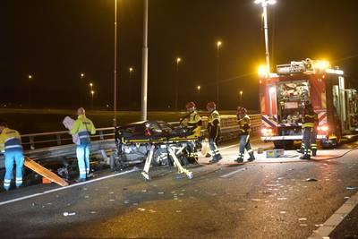 Verbindingsweg A16 naar A58 bij Breda dicht na ongeluk