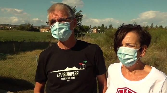 Henk en Yvonne, de ouders van Van Aert