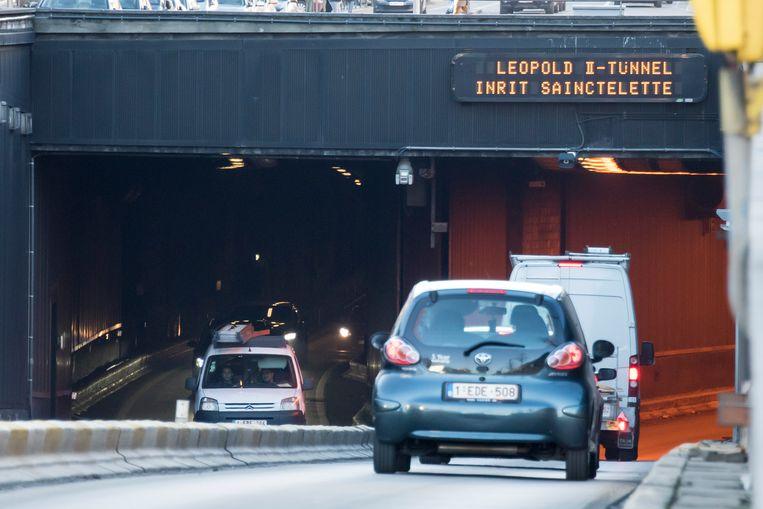 De Leopold II-tunnel toen er nog meer verkeer was.