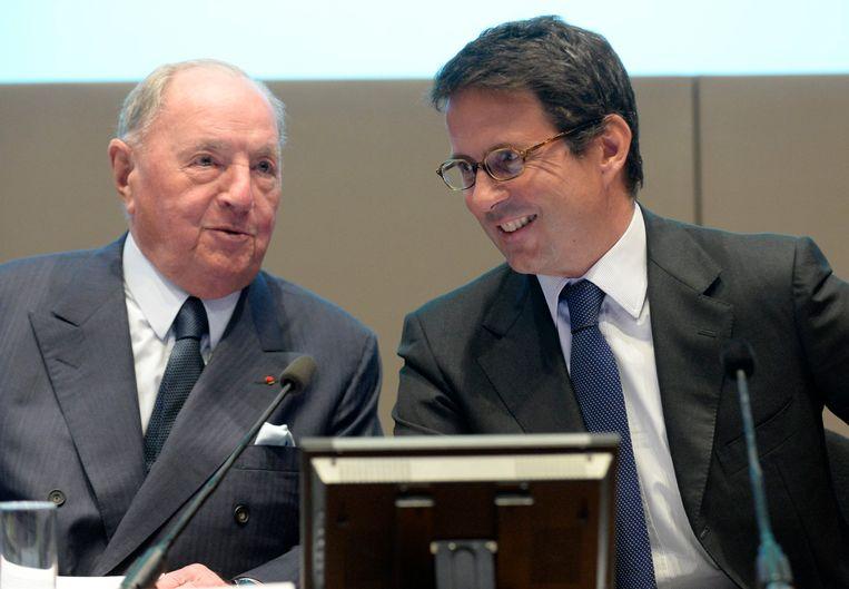 Albert Frère (L) stierf op 92-jarige leeftijd. Zijn schoonzoon Ian Gallienne (R) neemt nu de leiding bij het bedrijf GBL.