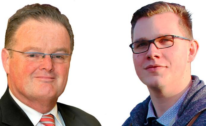 Peter van Dijk (links) en Vincent Bosch vormden tot voor kort de PVV -fractie in Provinciale Staten van Zeeland.