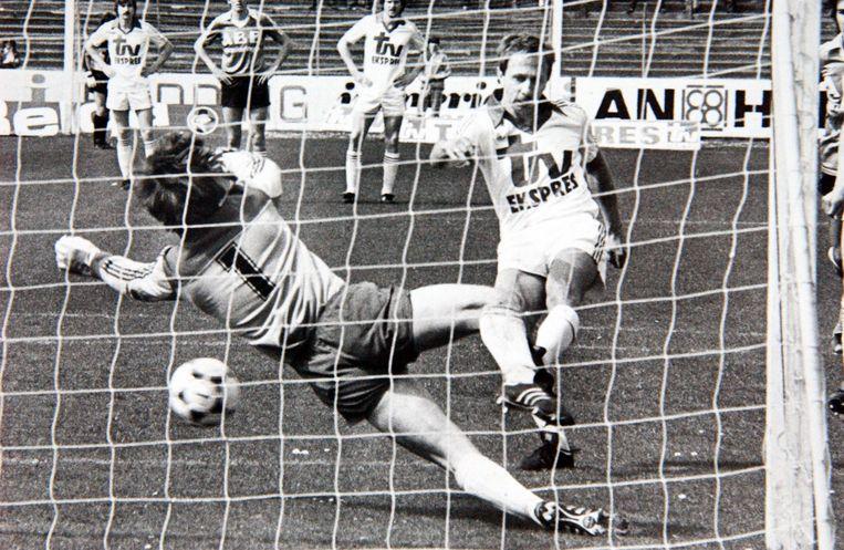 Laszlo Fazekas in het shirt van Antwerp, waar hij later ook trainer werd.