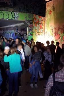 Eindhovense politie maakt einde aan illegaal feest onder viaduct N2