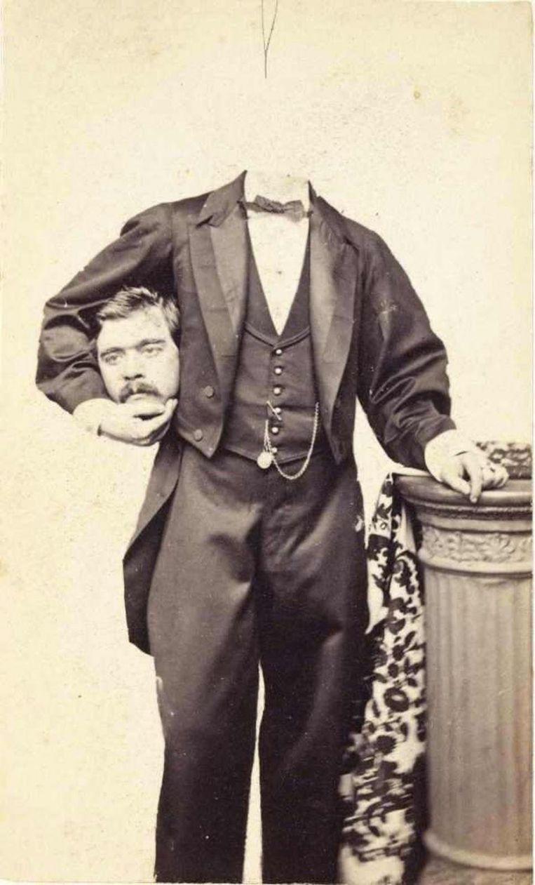 19de-eeuwse 'man zonder hoofd'. Beeld
