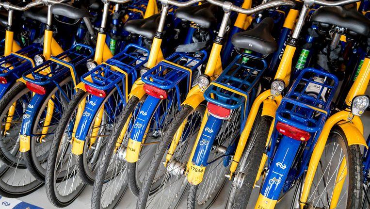 In totaal staan er 2500 OV-fietsen verspreid over verschillende locaties in Amsterdam Beeld anp
