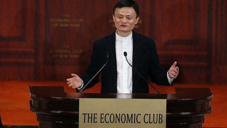 De oprichter en bestuursvoorzitter van Alibaba, Jack Ma. Beeld epa