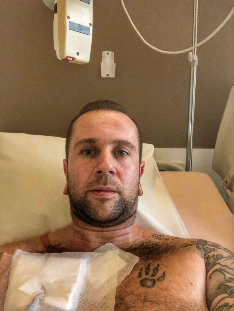 David Cras ligt in het ziekenhuis.