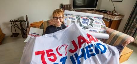 Heel Wijhe versiert de straat tijdens 75 jaar bevrijding in april