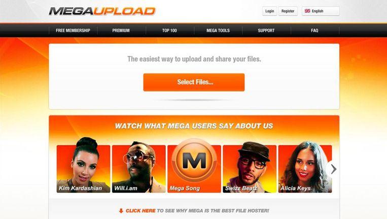 De website van filehost Megaupload.com Beeld afp