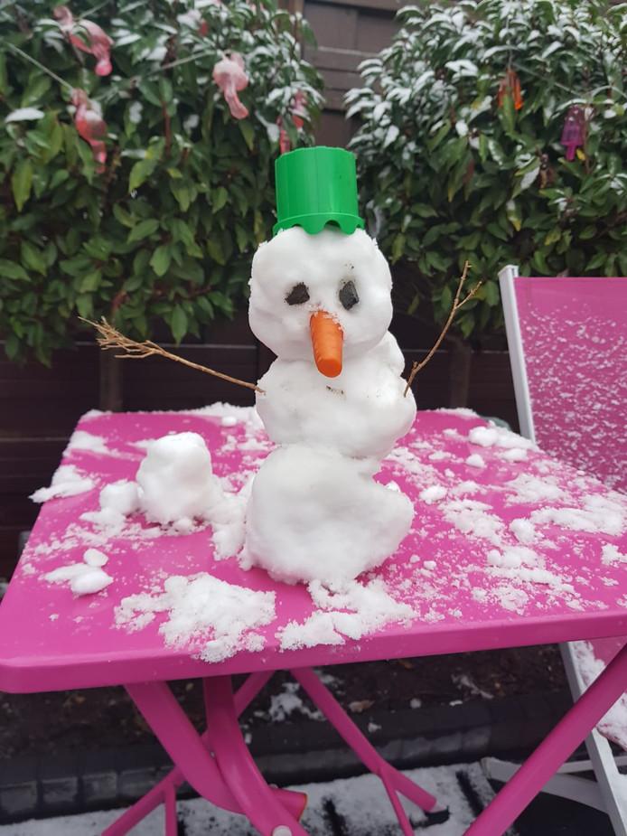 Een sneeuwpopje