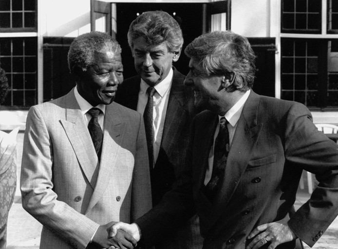 Nelson Mandela, Wim Kok en Ruud Lubbers