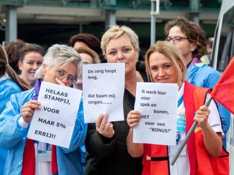 Luid kabaal bij ziekenhuis Rijnstate in Arnhem: aandacht voor een betere cao