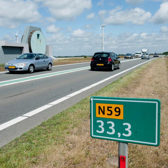 Een deel van de N59 op de Grevelingendam gaat twee avonden en nachten dicht.