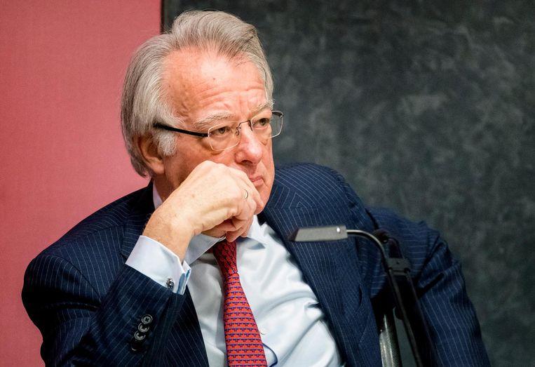 Waarnemend burgemeester Jozias van Aartsen donderdag tijdens zijn eerste commissievergadering met de gemeenteraad van Amsterdam. Beeld ANP