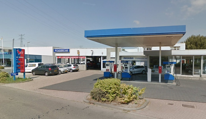 Het tankstation aan de Planetenlaan in Nieuw-Lekkerland.