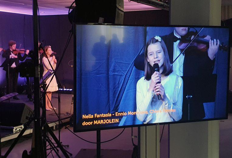 Met een livestream was het concert ook te zien in andere rusthuizen.