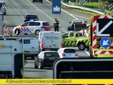 File op A2 bij Veldhoven na ongeluk voorbij