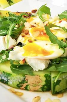Recept van de dag: Salade watermeloen met rucola