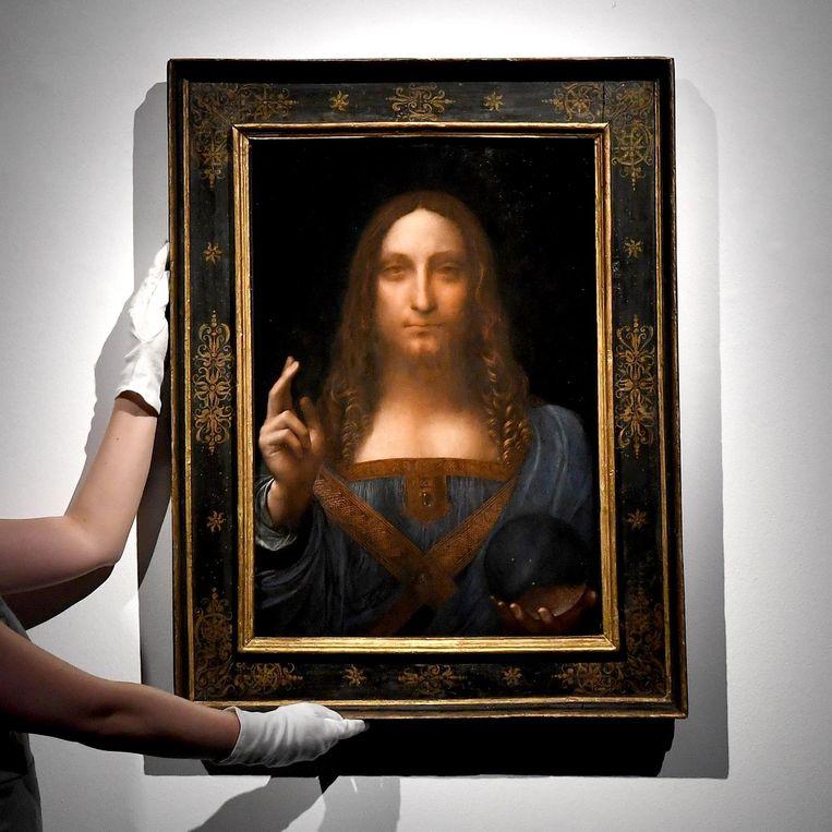 De Salvator Mundi van Da Vinci. Beeld afp