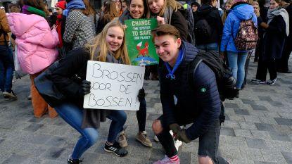 """Vorige week 150 klimaatbetogers, nu al 500 in Antwerpen: """"Sorry juf,  ben even de wereld aan het redden"""""""