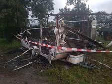 Caravan verwoest in Staphorst